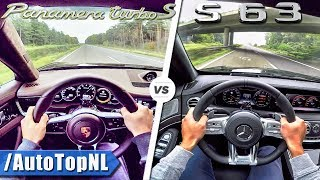 Mercedes S63 AMG vs Porsche Panamera Turbo S 0-300km/h ACCELERATION & TOP SPEED POV by AutoTopNL