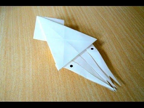 ศิลปะการพับกระดาษ ปลาหมึก