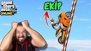 %99 İMKANSIZ MOTOR PARKURU! | EKİPLE GTA 5 ONLINE