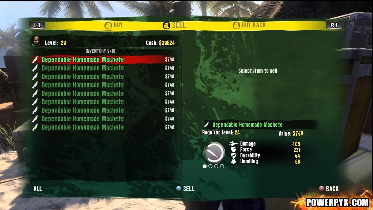 dead island how to get grenades