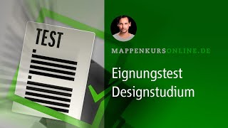Eignungstest Designstudium/Bewerbung (Alle Videos)