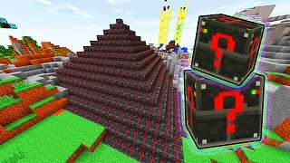 LUCKY ELECTRIC BLOCKS PYRAMID MOD CHALLENGE - MINECRAFT MODDED MINI-GAME!