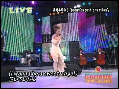 Ayumi Hamasaki () - teens ~acoustic version~ + Talk 06.04.03 HEYx3SP