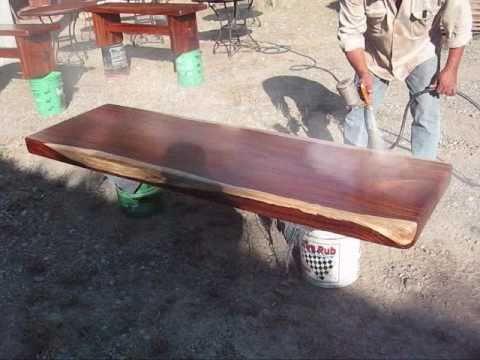 Mesas de madera huanacaxtle youtube - Mesas de tablones de madera ...