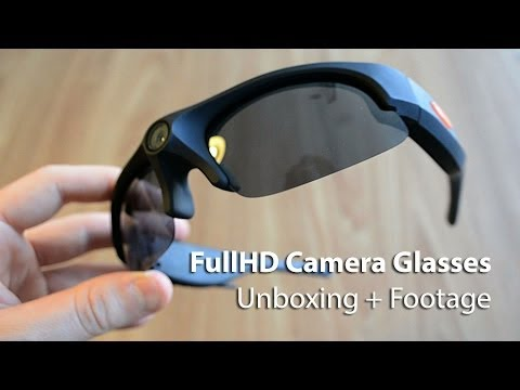 Inventio-HD Pro (or iVUE Horizon/EYEWEAR COACH HD) 1080p Camera glasses Unboxing + Footage