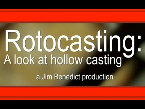 Plastic rotocasting demo with homemade rotocasting machine