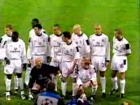 Karl Power poses on Manchester United team photo