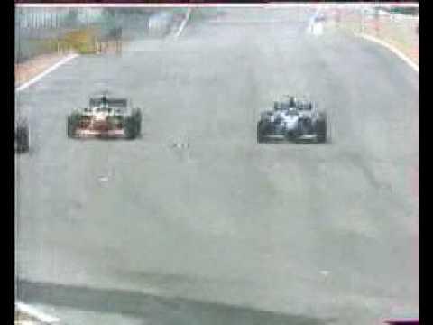 Formula 1 - 1999 - Brasil - Olivier Panis vs Marc Gene and Toranosuke Takagi.