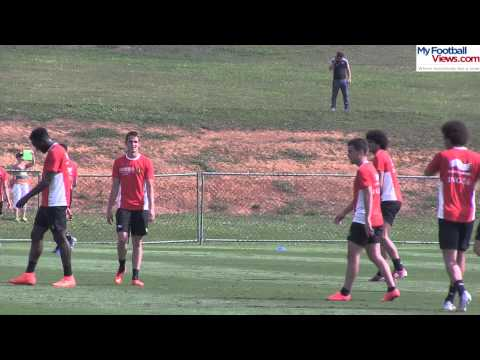 Adnan Januzaj scores a fantastic volley in Belgium training   28 6 2014