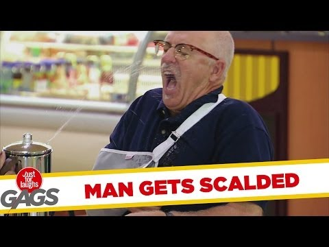 Tricked Teapot Scalds Injured Man Gag
