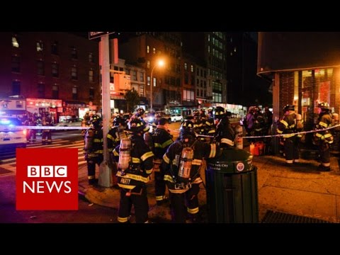 New York City: At least 29 wounded in 'intentional' explosion - BBC News