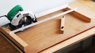 Homemade Circular Saw Crosscut Jig || DIY Circular Saw Miter Jig