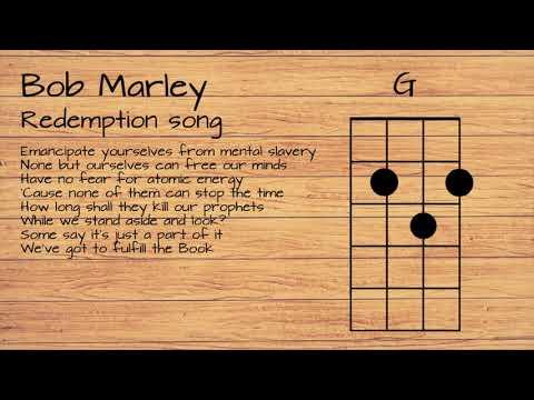 Bob Marley - Redemption song UKULELE TUTORIAL W/ LYRICS