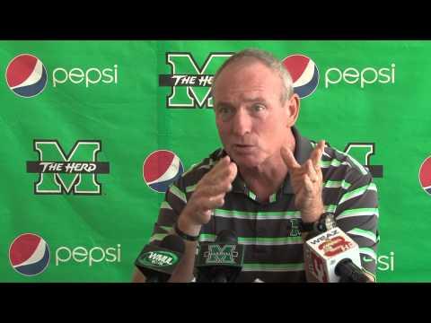 Marshall University: Coach Doc Holliday Press Conference. 8/26/14