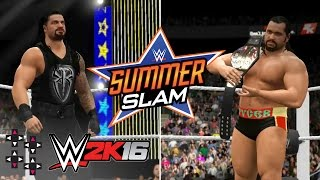 SummerSlam 2016: Roman Reigns vs. Rusev (U.S. Title Match) — WWE 2K16 Match Sims