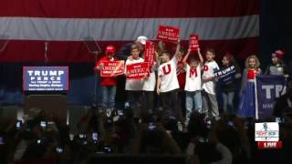 Donald Trump Brings Kids up to the Stage in Sterling Heights, MI 11/6/16