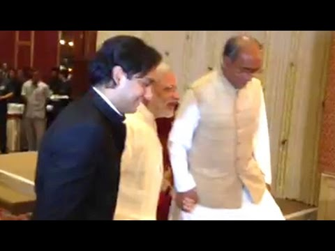 PM Narendra Modi at the wedding reception of Digvijay Singh's son 'JV'