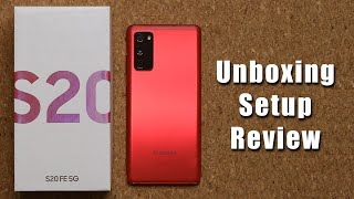 Samsung Galaxy S20 FE - Unboxing, Setup and Initial Review (Red Color)