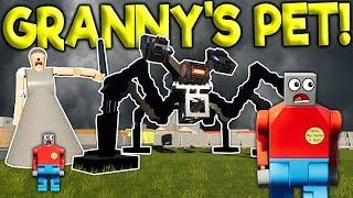GRANNY'S NEW PET ROBOT SPIDER SURVIVAL! - Brick Rigs Challenge Gameplay - Lego Granny Survival