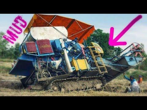 รถติดหล่ม 2017 | รถเกี่ยวติดหล่ม รถเกี่ยวดึงรถเกี่ยว Stuck in Mud คลิปเต็ม【CHANAWAN】