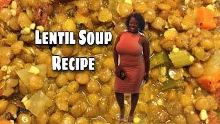 Vegan Lentil Soup| High Protein Vegan Food