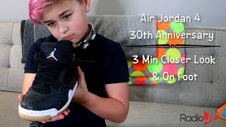 A 3 Min Closer Look & On Foot  | AIR JORDAN 4 30th Anniversary Black Gum
