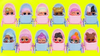 LOL Surprise Dolls Lil Sisters in Baby Strollers