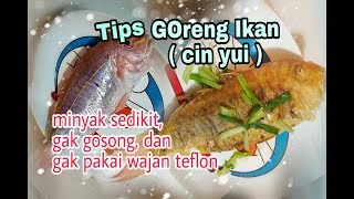 #Vlog masak#Tips goreng ikan dengan sedikit minyak ,Chinese food/masakan cina