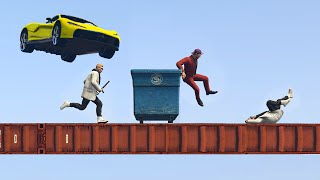 RUN OR GET CRUSHED! (GTA 5 Funny Moments)