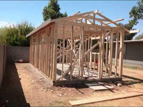 How to built a shed or work room como construir una - Habitacion de madera ...