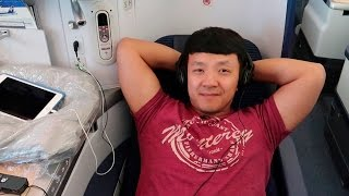 All Nippon Airways(ANA) Business Class From San Francisco to Tokyo Japan