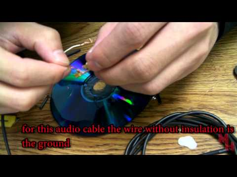 How to : fix or replace a bad audio jack cable plug (solder-less )