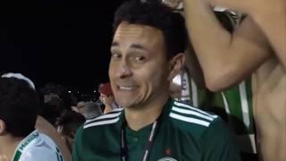 Hincha de Palmeiras y de Cruzeiro se sorprenden por como se mueve la bombonera