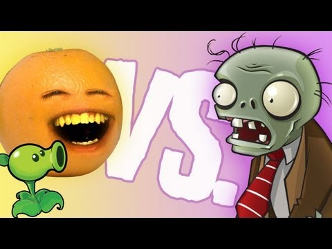 Annoying Orange - Vs Plants Vs Zombies video