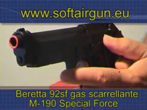 Beretta B92SF GAS SCARRELLANTE RAFFICA HFG SPECIAL FORCE HG190