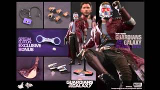 Guardians Of The Galaxy Hot Toys Star-Lord 1/6 Scale Movie Figure Pics & Details