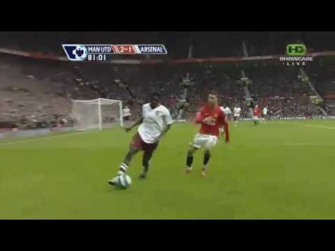 Cristiano Ronaldo Fouls_ Adebayor Must Watch) United Vs Arsenal