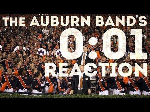 AU Band Reacts to 2013 Iron Bowl Win