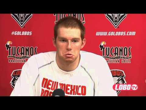 2012-13 Lobo Men's Basketball | Alex Kirk: Post-Idaho Press Conference