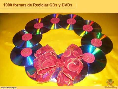 1000 ideas creativas para reciclar cds y dvds I