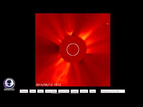 5/19/2014 CONFIRMED! NASA EXPOSED HIDING GIANT UFO IN SOHO IMAGES!