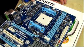 Gigabyte A75M-D2H FM1 AMD APU Motherboard Unboxing & First Look Linus Tech Tips