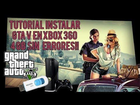 Tutorial   Como Instalar GTA V 16  GB Pendrive USB   Xbox 360 Slim 4 GB   Sin Errores!!