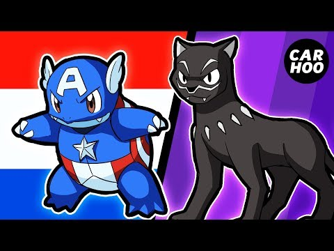 What If Black Panther & Captain America Were Pokemon 【Marvel's Avengers Infinity War Parody】