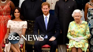 Queen Elizabeth announces 'period of transition' for Prince Harry and Meghan Markle | Nightline