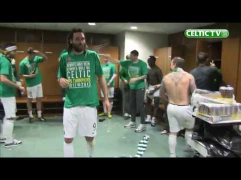 Celtic FC - SPL Champions post-match celebrations