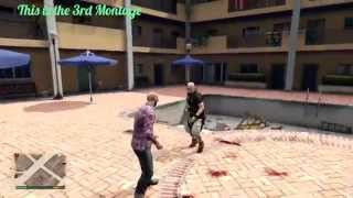 GTA 5 Street fight and Wrestling like in WWE #3 (Spear , Curb Stomp , powerslam...