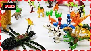 Nhện khổng lồ tấn công siêu nhân khủng long đồ chơi trẻ em power ranger toy for kids