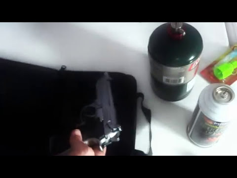 Como carregar de gas as pistolas de Airsoft (Green Gas e Gas Propano Coleman)