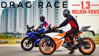 Ktm RC200 Vs Yamaha R15 V3 |Drag Race|Must Watch🔥🔥